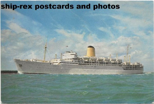 ARCADIA (1954, P&O Orient Lines) postcard (a2)
